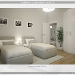 """Due camera da letto.....e due zone giorno!"": Camera da letto in stile in stile Moderno di MC Rendering Solution"