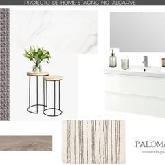 PROJECTO DE HOME STAGING NO ALGARVE: Casas de banho  por Paloma Agüero Design