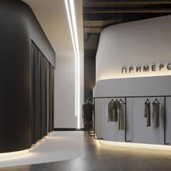 Шоу-рум брендовой одежды: Лестницы в . Автор – Yurov Interiors