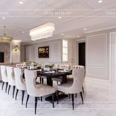 Thiết kế căn hộ cao cấp sang trọng mang phong cách Tân Cổ Điển:  Phòng ăn by ICON INTERIOR