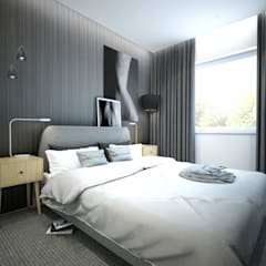 GRAWERSKA WNĘTRZA: styl , w kategorii Sypialnia zaprojektowany przez NA NO WO ARCHITEKCI