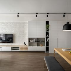 Salas / recibidores de estilo  por 極簡室內設計 Simple Design Studio,