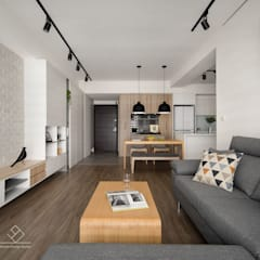 Salas / recibidores de estilo  por 極簡室內設計 Simple Design Studio