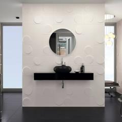 : minimalistic Bathroom by DUNE CERAMICA
