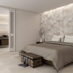 : minimalistic Bedroom by DUNE CERAMICA