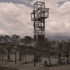 Mirador, Municipio de Villa del Rosario, Norte de Santander: Terrazas de estilo  por PLUMA DIGITAL SAS.