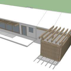 Proyecto Casa (Extendida) 150m2: Casas de madera de estilo  por Constructora Rukalihuen