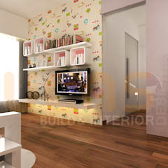 double storey house in cheras:  Nursery/kid's room by Yucas Design & Build Sdn. Bhd.