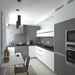 MIESZKANIE w Ursusie - Metamorfoza: styl , w kategorii Kuchnia zaprojektowany przez HD PROJEKT
