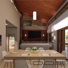 Jantar e Estar: Salas de estar  por D.O.S. Arquitetura
