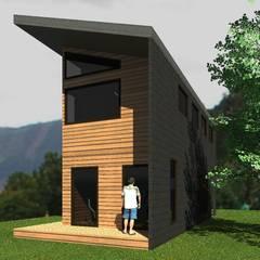 Casa para H Petersen: Casas prefabricadas de estilo  por Casabella