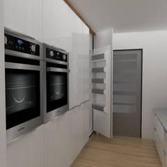 Diseño interior de departamento: Cocinas de estilo  por 78metrosCuadrados, Escandinavo