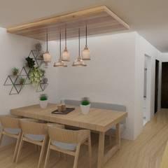 Diseño interior de departamento: Comedores de estilo  por 78metrosCuadrados, Escandinavo