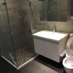 五股中興路設計案 整體穿透 提升豪華價值:  浴室 by 捷士空間設計(省錢裝潢)