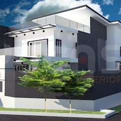 cheras double storey house:  Terrace house by Yucas Design & Build Sdn. Bhd.