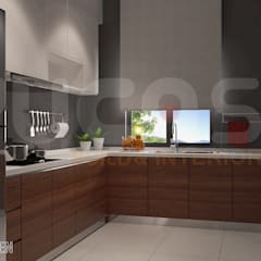 bungalow at segambut:  Kitchen by Yucas Design & Build Sdn. Bhd.