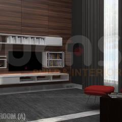 bungalow at segambut:  Media room by Yucas Design & Build Sdn. Bhd.