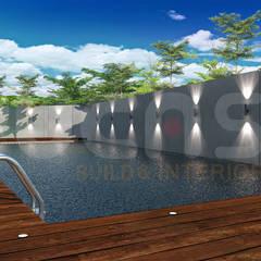 bungalow at segambut:  Pool by Yucas Design & Build Sdn. Bhd.
