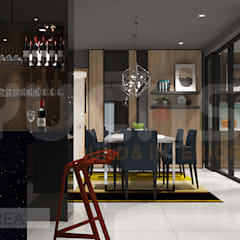 condo at mahkota cheras:  Dining room by Yucas Design & Build Sdn. Bhd.