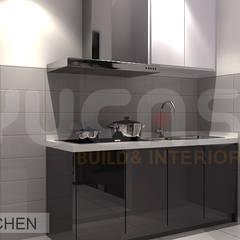 condo at mahkota cheras:  Kitchen by Yucas Design & Build Sdn. Bhd.
