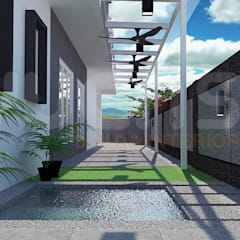 Semi-D at Jln Ipoh:  Garden Pond by Yucas Design & Build Sdn. Bhd.
