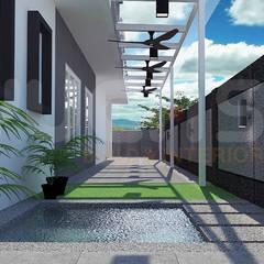 Estanques de jardín de estilo  por Yucas Design & Build Sdn. Bhd.