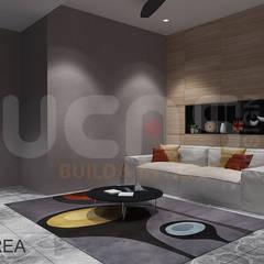 Semi-D at Jln Ipoh:  Media room by Yucas Design & Build Sdn. Bhd.