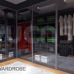 Semi-D at Jln Ipoh:  Dressing room by Yucas Design & Build Sdn. Bhd.