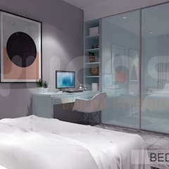 Semi-D at Jln Ipoh:  Bedroom by Yucas Design & Build Sdn. Bhd.