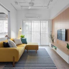 غرفة المعيشة تنفيذ 寓子設計