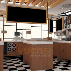 Gloria Jeans Coffees at Shah Alam:  Commercial Spaces by Yucas Design & Build Sdn. Bhd.