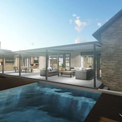 Mooikloof House:  Garden Pool by du Toit Arch