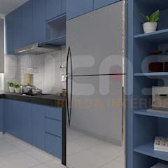 skypark Condo at Saujana Putra:  Kitchen by Yucas Design & Build Sdn. Bhd.
