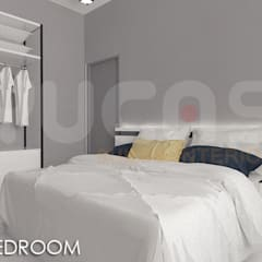 skypark Condo at Saujana Putra:  Bedroom by Yucas Design & Build Sdn. Bhd.