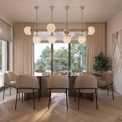 INSIDE THE MODERN HOUSE:  Küchenzeile von Tobi Architects
