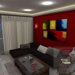 Remodelación Sala Recibidor Apto Res. San Isidro: Salas / recibidores de estilo moderno por RB Arquitectura & Diseño