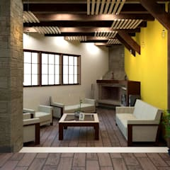 Sala: Salas de estilo rústico por Arq. Rodrigo Culebro Sánchez