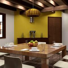 Comedor: Comedores de estilo rústico por Arq. Rodrigo Culebro Sánchez