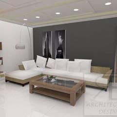 Remodelación Sala Recibidor Apto Res. La Esmeralda: Salas / recibidores de estilo  por RB Arquitectura & Diseño
