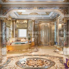 Interior Design Dubai UAE by Katrina Antonovich:  Bathroom by Luxury Antonovich Design, Classic