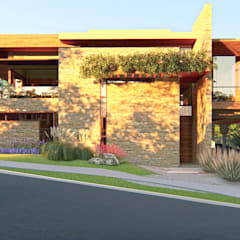 Fachada - Entrada Social: Casas familiares  por IEZ Design
