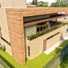 Fachada: Casas familiares  por IEZ Design