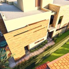 Residência em Alphaville Brasília I: Casas familiares  por IEZ Design