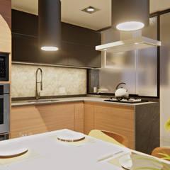 Cozinha: Armários e bancadas de cozinha  por IEZ Design