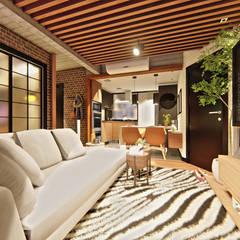 Sala: Salas de estar escandinavas por IEZ Design