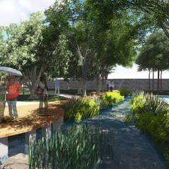 : Ruang Komersial oleh 1mm studio | Landscape Design, Industrial