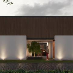 fachada principal: Casas unifamiliares de estilo  por Stuen Arquitectos