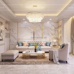 Thiết kế nội thất Tân Cổ Điển sang trọng phong cách Châu Âu:  Phòng khách by ICON INTERIOR