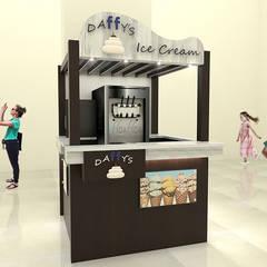 Stand Comercial Heladeria: Espacios comerciales de estilo  por Pinto Arquitectura