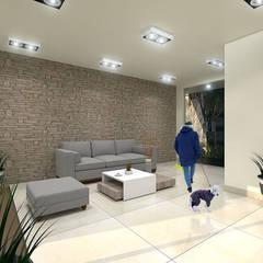 Propuesta de Diseño para Vigilancia: Salas de estilo  por Pinto Arquitectura,